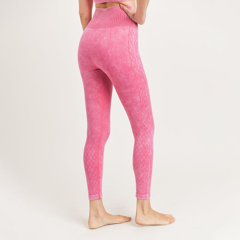 Seamless Mineral-Washed Highwaist Leggings