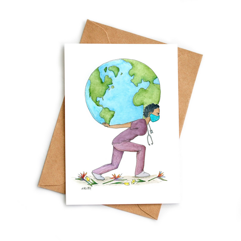 Weight Of The World For All Greeting Card