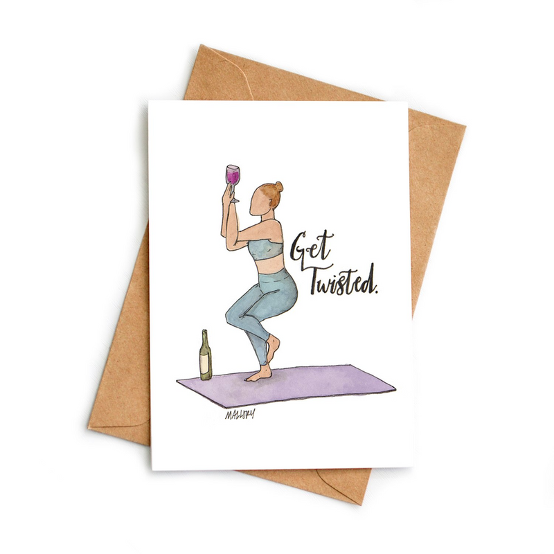 Get Twisted Greeting Card