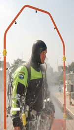 Portable DeCon shower by Miti