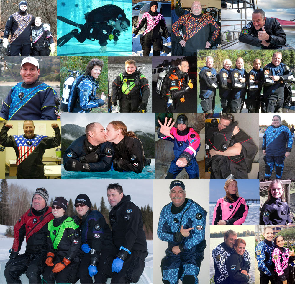 Design your own DUI drysuit system