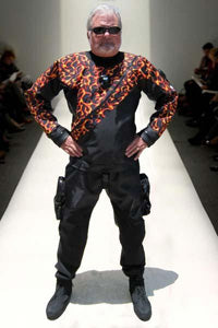 Dick Long - Flame drysuit overlay