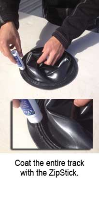 DUI silicone neck ZipRing step 3