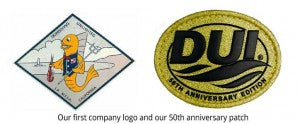 DUI first company logo and 50th anniversary patch