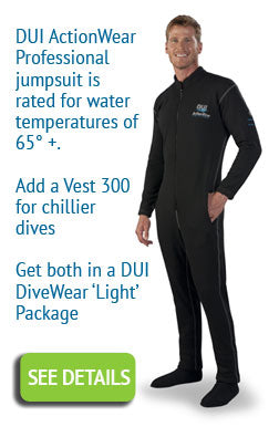 DUI ActionWear divewear for drysuit divers