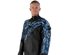 DUI CLX450 and TLS350 classic drysuit overlay