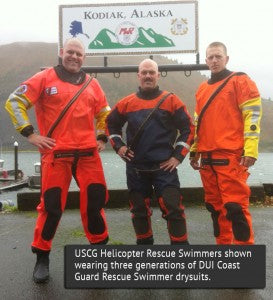 United States Helicopter Rescue Swimmers in DUI drysuits