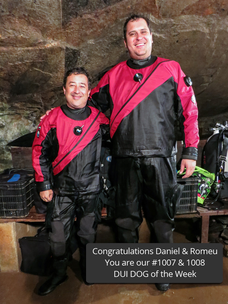 Daniel Vieira and Romeu Dib dry suits