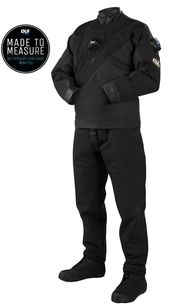 DUI CLX450 Classic - Premium Drysuit - Pro Black Tough Duck