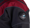 FLX Extreme - Premium Drysuit - Elite Red Tough Duck with Gray Piping - Low Profile Dump Valve