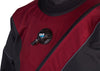 FLX Extreme - Premium Drysuit - Elite Red Tough Duck with Gray Piping - Inflater Valve