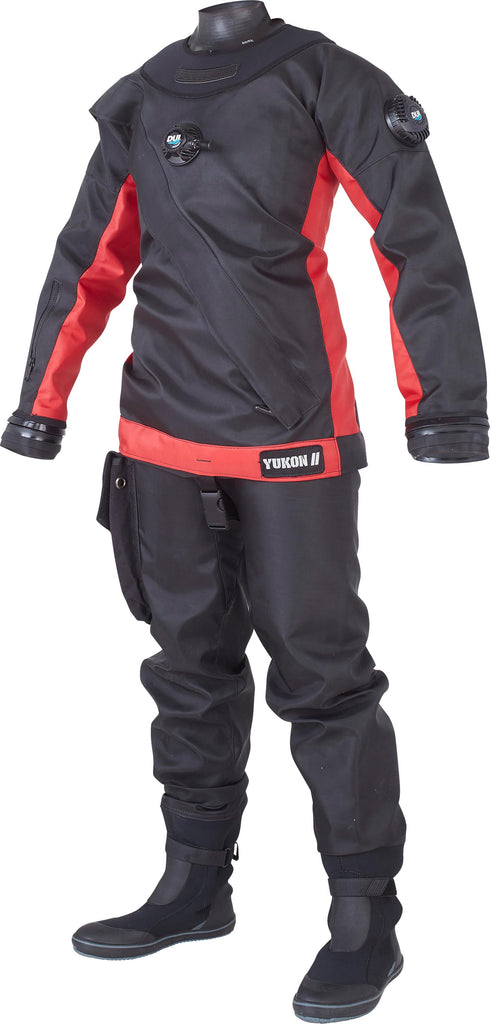 Yukon II - Standard Drysuit - Red Accent