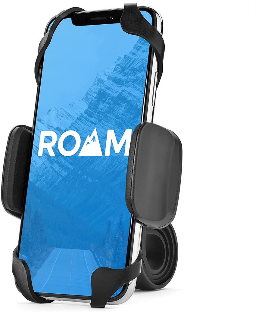 "Roam Universal Premium Bike Phone Mount for Motorcycle - Bike Handlebars, Adjustable, Fits iPhone 6s | 6s Plus, iPhone 7 | 7 Plus, Galaxy S7, S6, S5, Holds Phones Up to 3.5"" Wide"