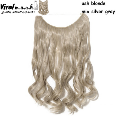 Ash Blonde/Silver Mix Curly - Viral Makeup and Hair Product Photo