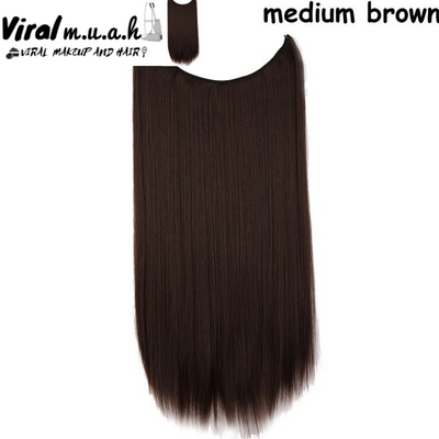 Medium Brown Straight - Viral Makeup and Hair Product Photo