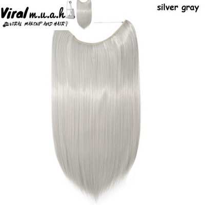 Silver Gray Straight - Viral Makeup and Hair Product Photo