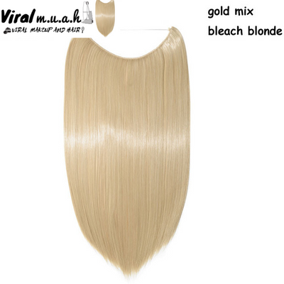 Gold/Bleach Blonde Mix Straight - Viral Makeup and Hair Product Photo