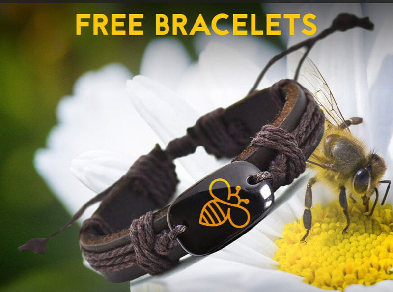 FREE HONEYBEE ENLIGHTMENT UNISEX VEGAN BRACELET-Accessories-And 1 For All
