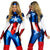 Marvel Women's Captain America Cosplay Costume-Suit-And 1 For All
