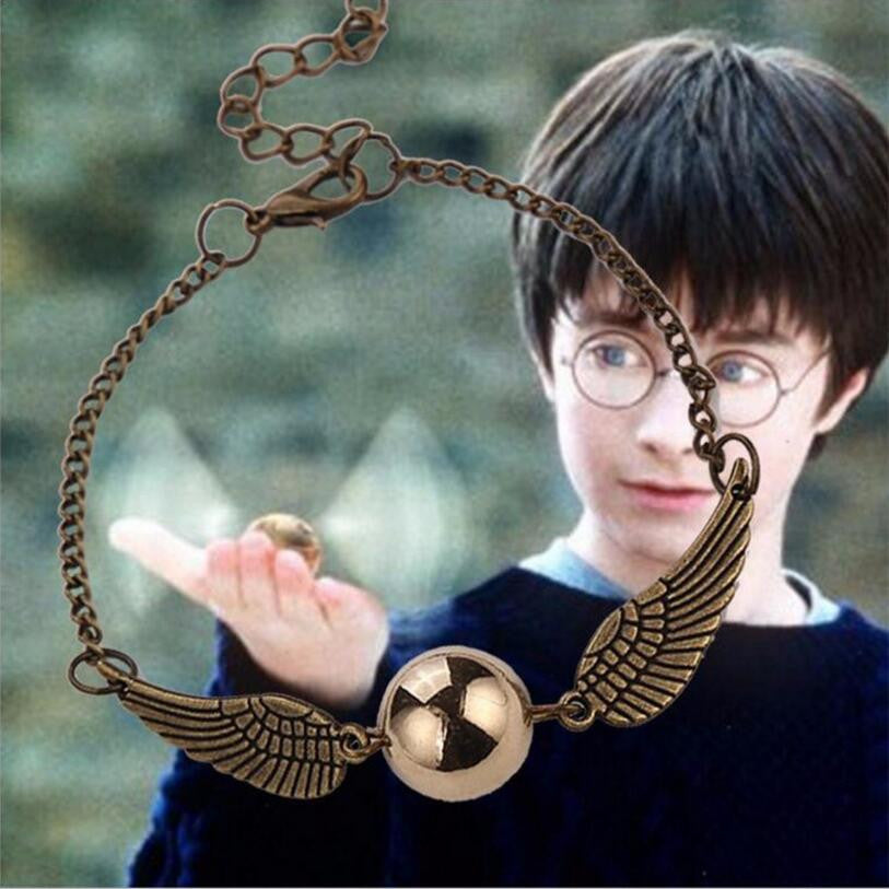 Harry Potter Deathly Hallows Golden Snitch Jewelry Bracelet-And 1 For All