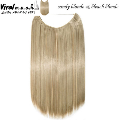 Sandy/Bleach Blonde Mix Curly - Viral Makeup and Hair Product Photo