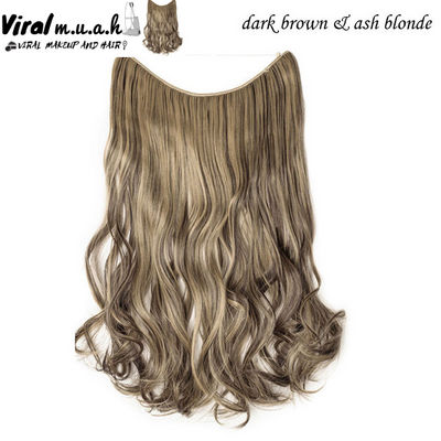 Dark Brown/Ash Blonde Mix Curly - Viral Makeup and Hair Product Photo