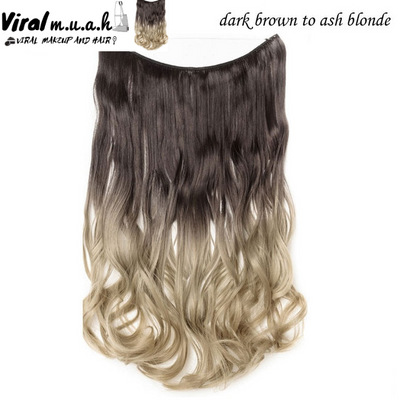 Dark Brown To Ash Blonde Curly - Viral Makeup and Hair Product Photo