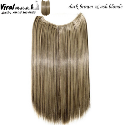 Dark Brown/Ash Blonde Mix Straight - Viral Makeup and Hair Product Photo