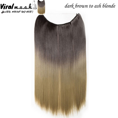 Dark Brown To Ash Blonde Straight - Viral Makeup and Hair Product Photo