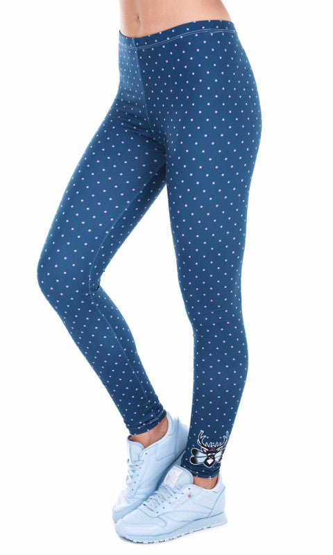 Women's Sexy Spring Fashion 3D Deer Dots Printed Fitness Yoga Pants-Leggings-And 1 For All