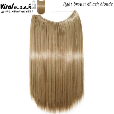 Light Brown/Ash Blonde Mix Straight - Viral Makeup and Hair Product Photo