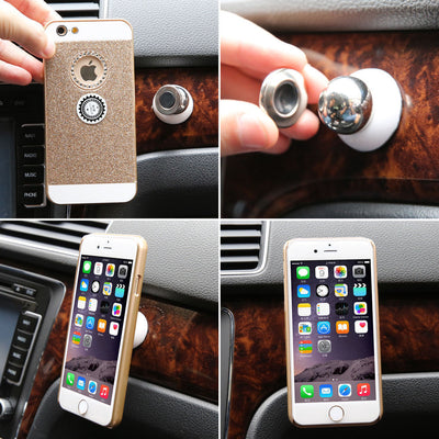 360 Degree Universal Car Phone Holder Magnetic Air Vent Mount-Phone-And 1 For All