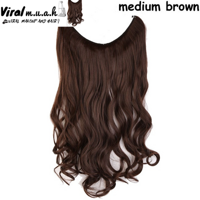 Medium Brown Curly - Viral Makeup and Hair Product Photo