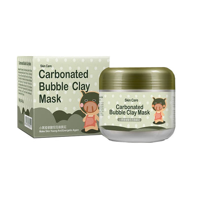 Carbonated Bubble Clay Mask Bubbles Mud Mask Moisturize Deep Cleansing Face Mask 3.52 oz