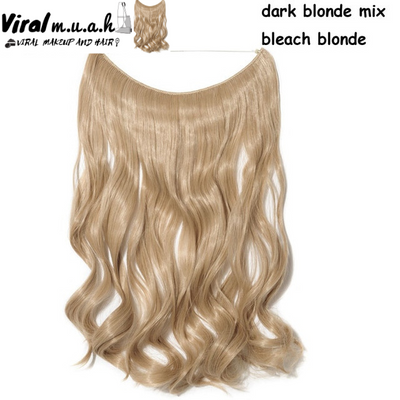 Dark Blonde/Bleach Blonde Mix Curly - Viral Makeup and Hair Product Photo