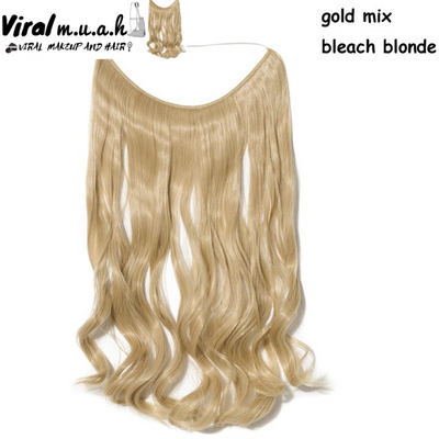 Gold/Bleach Blonde Mix Curly - Viral Makeup and Hair Product Photo