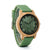 Bamboo Wooden Watch with Green Silicone Strap