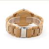 Natural Bamboo Dear Engraved Wood Watch - Bamboo Strap