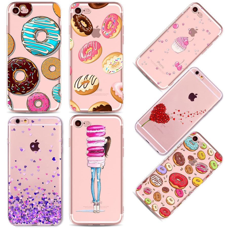 Apple IPhone Rainbow Colorful Foods Phone Case -7 7plus 6 6S 5 5S SE 6Plus 6SPlus-Accessories-And 1 For All