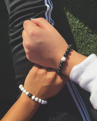 2 Free Distance Bracelets - His and Hers Set