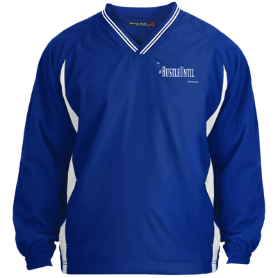 Hustle Until - Sport-Tek Tall Tipped V-Neck Windshirt