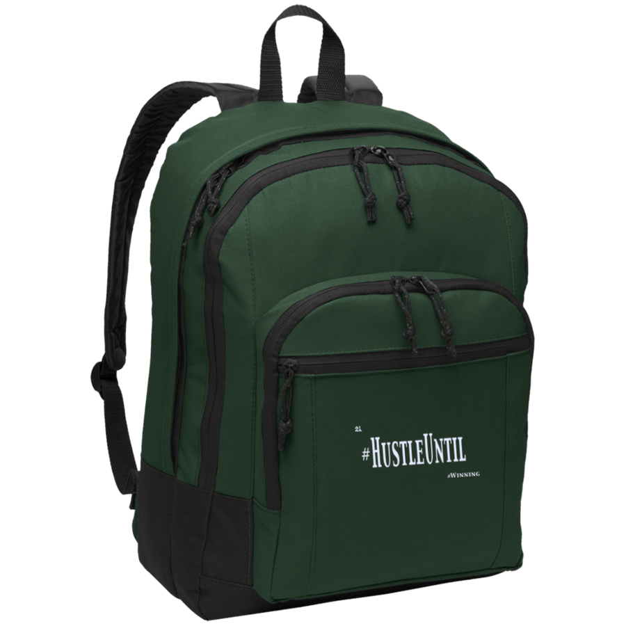 Hustle Until - Port Authority Basic Backpack Wht-Bags-And 1 For All