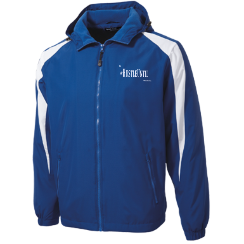 Hustle Until - Sport-Tek Youth Colorblock Fleece-Lined Jacket