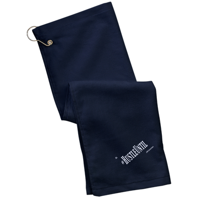 HUSTLE UNTIL - Port Authority Grommeted Golf Towel