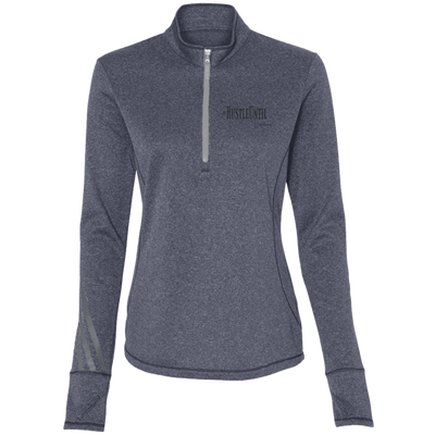 Hustle Until - Adidas Ladies' Terry Heather 1/4 Zip