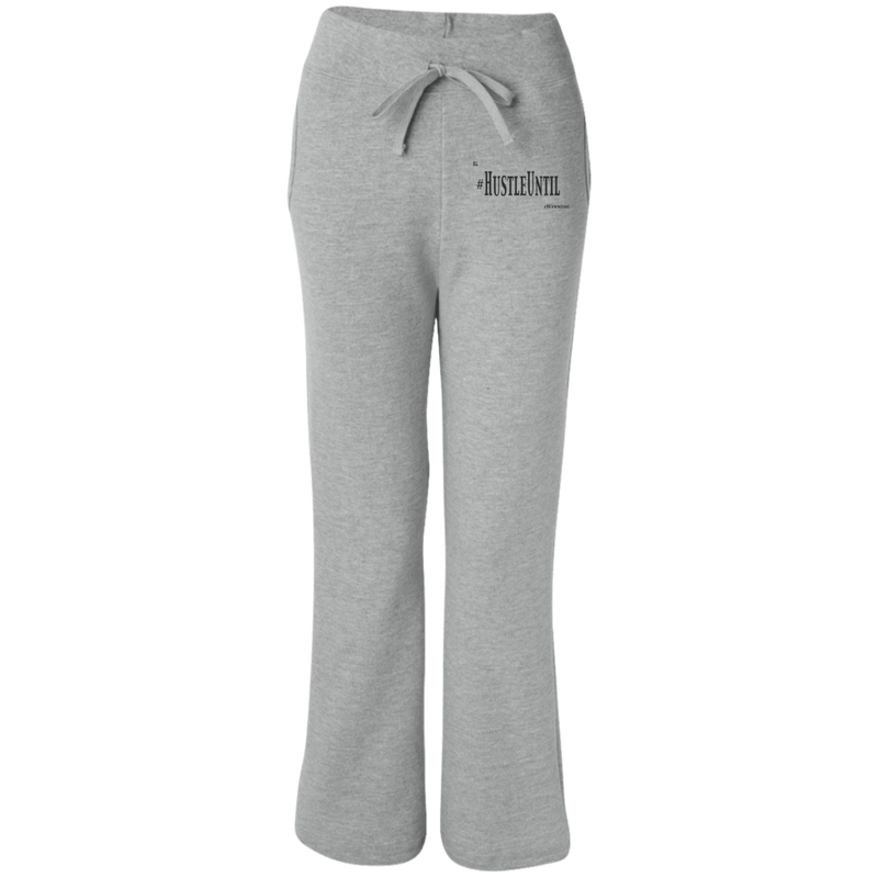 Hustle Until - Gildan Women's Open Bottom Sweatpants with Pockets