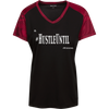 Hustle Until - Sport-Tek Ladies' CamoHex Colorblock T-Shirt-T-Shirts-And 1 For All