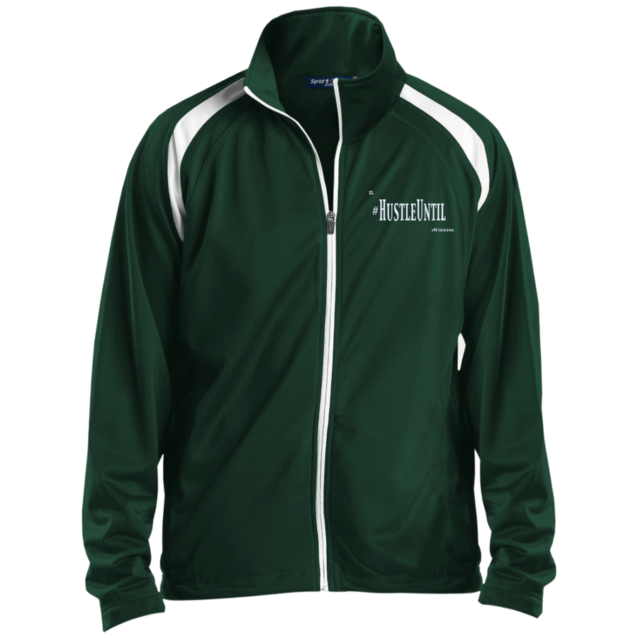 Hustle Until - Sport-Tek Men's Raglan Sleeve Warmup Jacket
