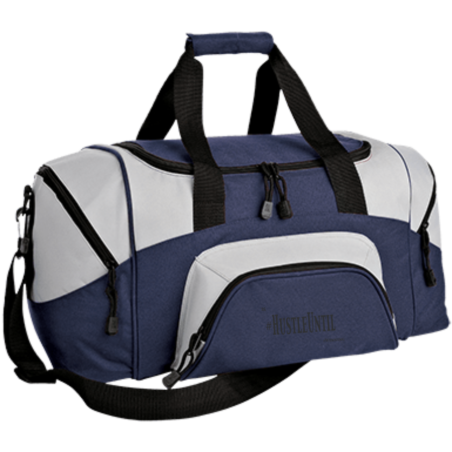 Hustle Until - Port & Co. Small Colorblock Sport Duffel Bag