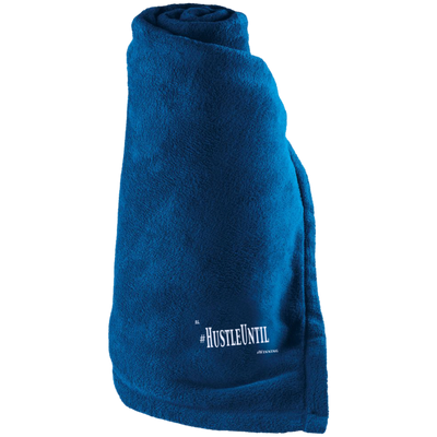 HUSTLE UNTIL - Holloway Large Fleece Blanket